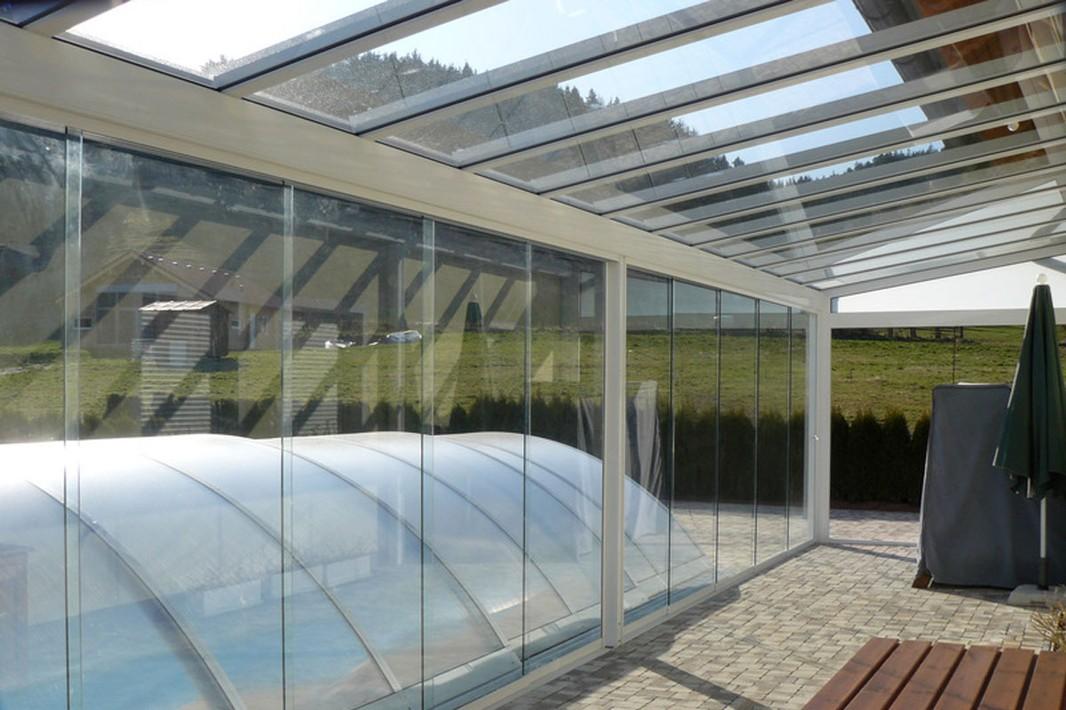 Galer a serie vs 120 techo fijo cortinas de cristal - Toldos fijos para terrazas ...